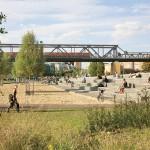 Gleisdreieck Park Berlin, Bühne und Tribüne im Westpark