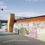Gleisdreieck Park Berlin, Treppe über die Gleise
