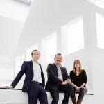 DAM Biennale Team (Oliver Elser, Peter Cachola Schmal, Anna Scheuermann) / Foto: Kirsten Bucher