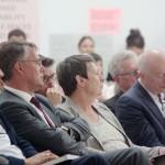 Staatssekretär Gunther Adler, Bundesbauministerin Barbara Hendricks, Joachim Schellnhuber (Direktor Potsdam-Institut Klimaforschung), Foto:  David Kasparek
