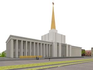 Entwurf für den Umbau des Sowjetischen Pavillons zum Stadtarchiv, Quelle: ARGE Pfau Architekten / F29 Architekten