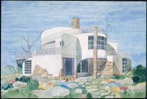 Fantasy House no. 9, 1947; watercolor by Frank from the late 1950s © ArkDes and Svenskt Tenn, Josef Frank Archive, Stockholm