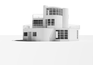Fantasy House no. 9, 1947; rendering of 3-D model © Mikael Bergquist/Olof Michélsen, Stockholm