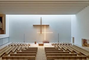 Nike für Symbolik: Propsteikirche St. Trinitatis, Leipzig 2012–2015; Architekten: Schulz und Schulz, Leipzig; Bauherr: Katholische Propsteipfarrei St. Trinitatis