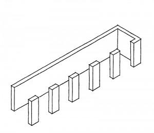 Dom Hans van der Laan, Der architektonische Raum, Verhältnis von Wand und Raum, Raumfolgen