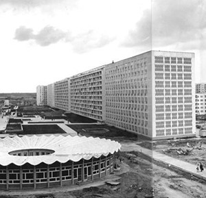 Halle, Neustadt, Wohnblocks, Kindergarten