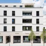 """Schlicht Lamprecht Architekten, Wohnbau """"Klassischer Nachbar"""", Schweinfurt 2011–2014, Foto: Stefan Meyer"""