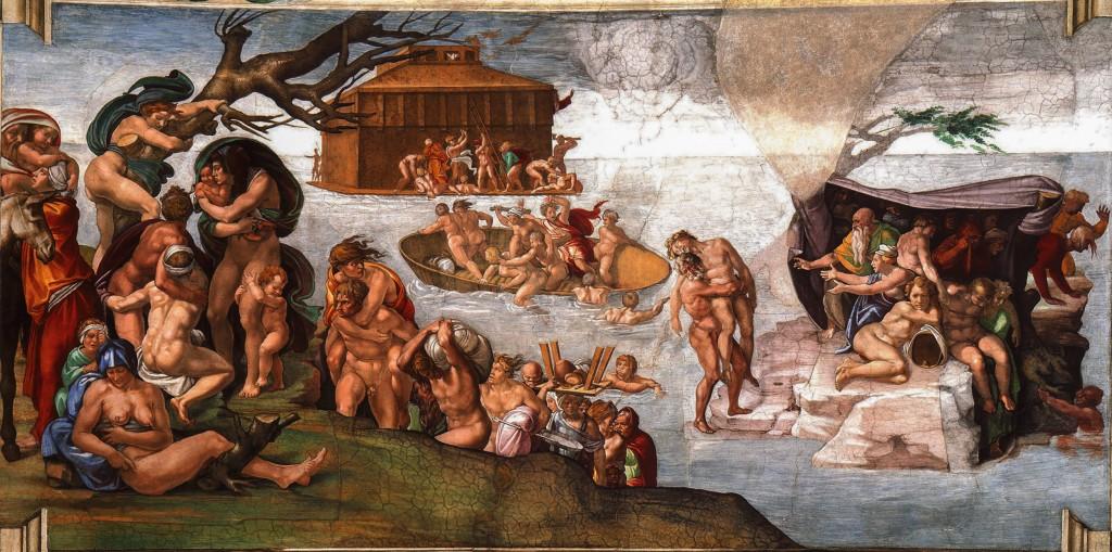Michelangelo Buonarroti, die Sintflut, 1508/09