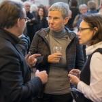 Gespräche am Rande: Harald Kiefer, Susanne Wartzeck und Annemarie Bosch (v.l.n.r.) in der Diskussion, Foto: Till Budde