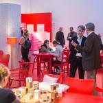 """Am Rande des Berliner Gesprächs geöffnet: Die Ausstellung """"Neue Standards. Zehn Thesen zum Wohnen"""", Foto: Till Budde"""