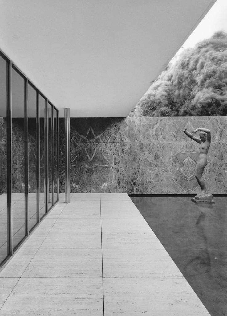 Klaus Kinold: Ludwig Mies van der Rohe, Deutscher Pavillon, Weltausstellung Barcelona 1929 Rekonstruktion, Foto 1992