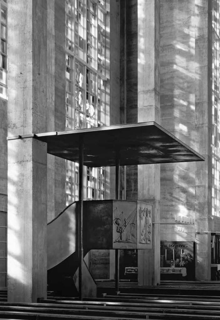 Klaus Kinold: Karl Moser, Kirche St. Antonius, Basel, Schweiz, Foto 1996