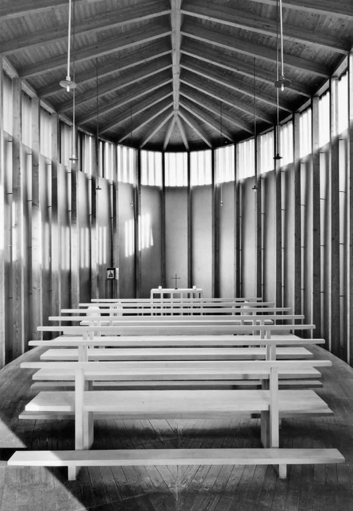 Klaus Kinold: Peter Zumthor, kapelle Sogn Benedetg, Sumvitg, Schweiz, Foto 2009