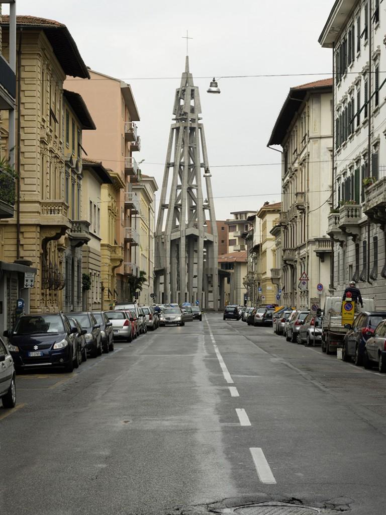 1956–62. Lando Bartoli, Lisindo Baldassini, Pier Luigi Nervi. Campanile, Chiesa del Sacro Cuore, Florenz
