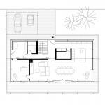 Reichel Schlaier Architekten BDA, Einfamilienhaus, Stuttgart-Feuerbach 2014-2016, Grundriss Ebene 0, Abb.: Reichel Schlaier Architekten