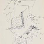 Alvaro Siza Vieira, Skizzen für das Eckgebäude Schlesische-/ Falckensteinstraße, 1980-1983, © Deutsches Architekturmuseum, Foto: Uwe Dettmar