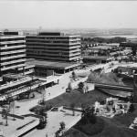 Ruhr-Universität Bochum, Querforum Ost, Luftbild 1974, Foto: Bau- und Liegenschaftsbetrieb NRW