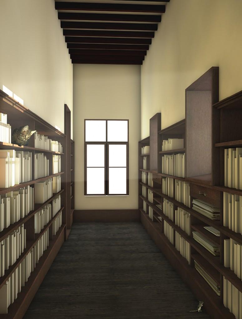 Das Rosenhaus Bücherzimmer (c) FHNW, Institut Architektur, Maya Scheibler