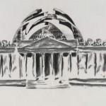 Gottfried Böhm, Entwurf für den Umbau des Reichstags, 1992, Deutsches Architekturmuseum, Foto: Uwe Dettmar
