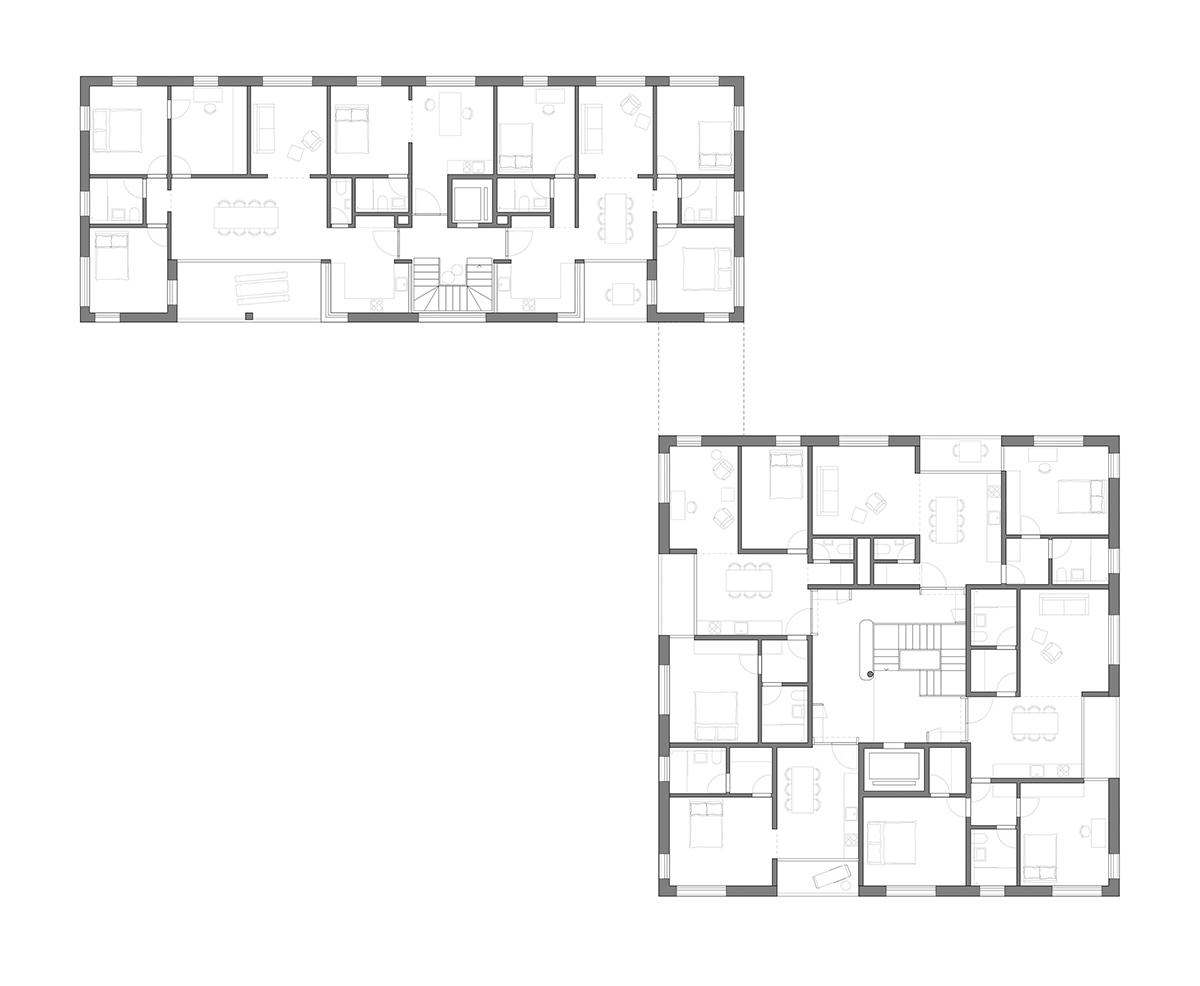 bartscher architekten bda branderhof ideenwettbewerb aachen 2016 grundriss abb bartscher bda. Black Bedroom Furniture Sets. Home Design Ideas