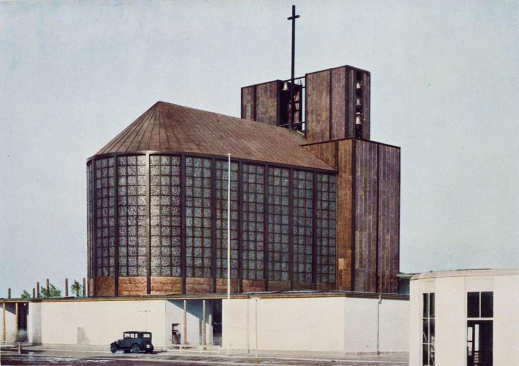 Otto Bartning Stahlkirche auf der Ausstellung Pressa, Köln, 1928 Foto: Hugo Schmölz © Otto-Bartning-Archiv TU Darmstadt