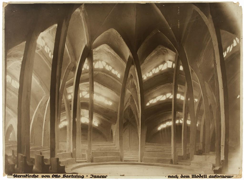 Otto Bartning Sternkirche, Modell, Innenansicht, 1922 Fotograf unbekannt © Otto-Bartning-Archiv TU Darmstadt