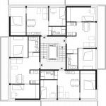zanderrotharchitekten, li01, Berlin 2010–2015, Grundriss der Häuser 1, 3 und 5, Abb.: zanderroth