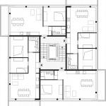 zanderrotharchitekten, li01, Berlin 2010–2015, Grundriss der Häuser 2, 4 und 6, Abb.: zanderroth
