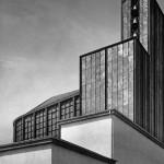 Otto Bartning, Stahlkirche auf der Ausstellung Pressa, Köln, 1928, Foto: Hugo Schmölz (© Otto-Bartning-Archiv TU Darmstadt)