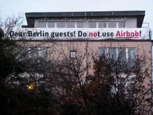 Protest gegen airbnb, Berlin 2014, Foto: Screenpunk (via flickr. com / CC BY 2.0)