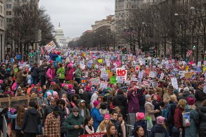 """""""Women's March on Washington"""", Protest gegen US-Präsident Donald Trump, Washington D.C. 2017, Foto: Mobilus In Mobili (via flickr.com / CC BYSA 2.0)"""