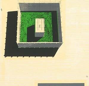 Entwurf von Larissa Eichwede und Julius Klaffke für den ZEIT-Wettbewerb Bauakademie 1995, ©Larissa Eichwede und Julius Klaffke