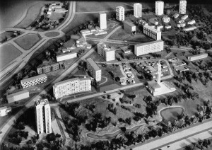 Berlin, Hansaviertel IBA 57, Städtebauliche Rahmenplanung: Gerhard Jobst und Willy Kreuer, 1951ff., Foto: Archiv