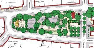 Bonifatiusplatz, Hannover Vahrenwald-List, Planung: Spalink-Sievers Landschaftsarchitekten
