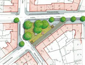 Oesterleyplatz, Hannover Südstadt, Planung: LHH, Fachbereiche Tiefbau und Stadtgestaltung