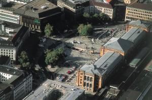 Ernst-August-Platz, Hannover, Luftbild: Karl Johaentges