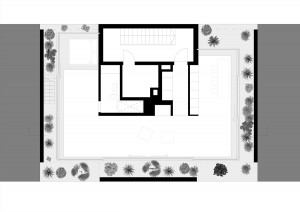 """Atelier Zafari, Dachaufstockung """"Floating Penthouse"""", Berlin 2016–2017, Grundriss, Abb.: Zafari"""