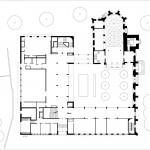 Lederer Ragnarsdóttir Oei Architekten, Sanierung der Hospitalkirche, Stuttgart 2009–2017, Grundriss EG