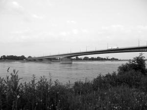 Josef-Kardinal-Frings-Brücke, Düsseldorf 1950–1951, Foto: D. Ritter