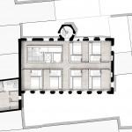 dury et hambsch architektur BDA, Haus zum Maulbeerbaum, Machbarkeitsstudie, Landau 2013, Grundriss, Abb.: dury et hambsch