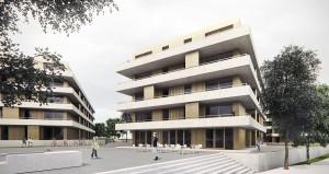 dury et hambsch architektur BDA, Neues Wohnen in Chorweiler Nord, Landeswettbewerb, Köln 2015, Abb.: dury et hambsch