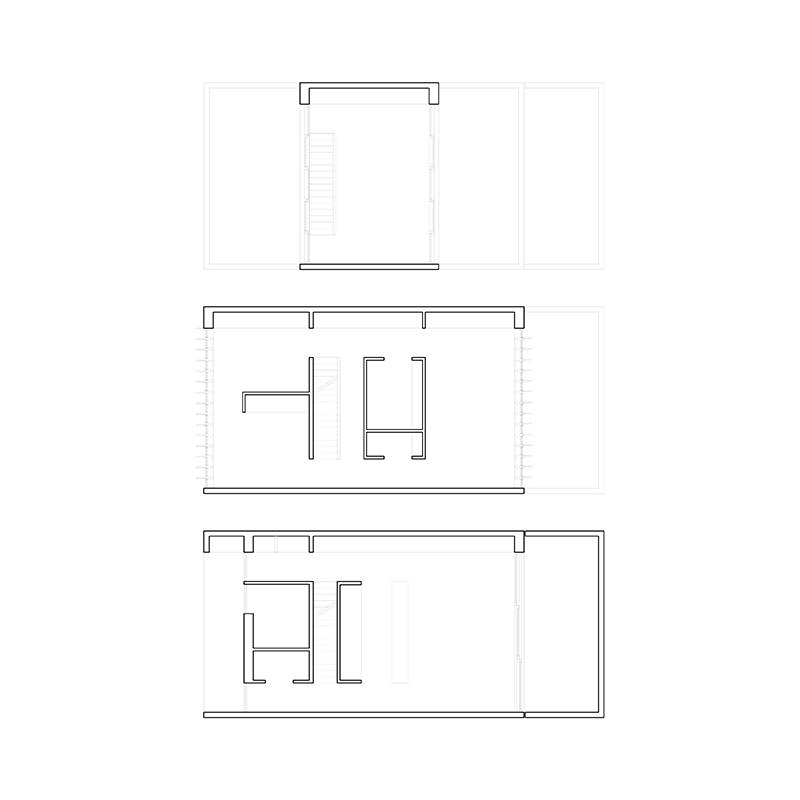 pasel.kuenzel architects, Wohnhaus V12K03, Leiden, Niederlande, 2015-2017, Grundrisse, Foto: pasel.kuenzel