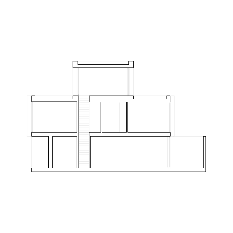 pasel.kuenzel architects, Wohnhaus V12K03, Leiden, Niederlande, 2015-2017, Schnitt, Foto: pasel.kuenzel