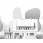 Wirth=Architekten BDA, Haus Tugendhaft, Grasberg 2012 –2017, Ansicht II, Abb.: Wirth