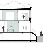 Wirth=Architekten BDA, Haus ohne Zimmer, Bremen 2015–2017, Schnitt, Abb.: Wirth
