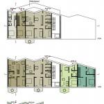 Wirth=Architekten BDA, Wohnraum schaffen, Wettbewerb, Bremen 2017, Grundrisse Haus A, Abb: Wirth