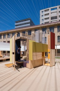 Ludwig Heimbach Architektur, A Float of Immaterial Pleasures, temporärer Pavillon, Kyoto 2017, Foto: nobutada OMOTE
