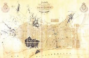 Stadterweiterung Barcelona, 1859, Abb.: Museu d'Historia de la Ciutat, Barcelona