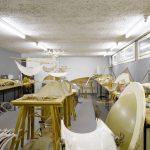 Modellraum im Bürogebäude von Heinz Isler, Lyssachschachen bei Burgdorf, 2011, Foto: Hannes Henz