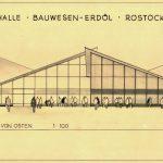 """Ulrich Müther, Messehalle """"Bauwesen und Erdöl"""", Rostock, Ansicht, 1966, Foto: Müther-Archiv an der Hochschule Wismar"""